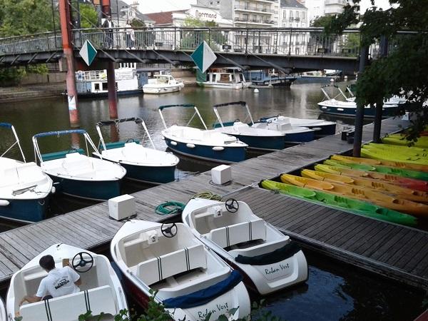 bateau électrique canoe location nantes