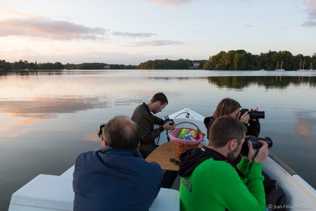 Balade photographique en bateau électrique animée par Jean-Félix Fayolle en partenariat avec le Ruban Vert. Nantes, France - 09/08/2018